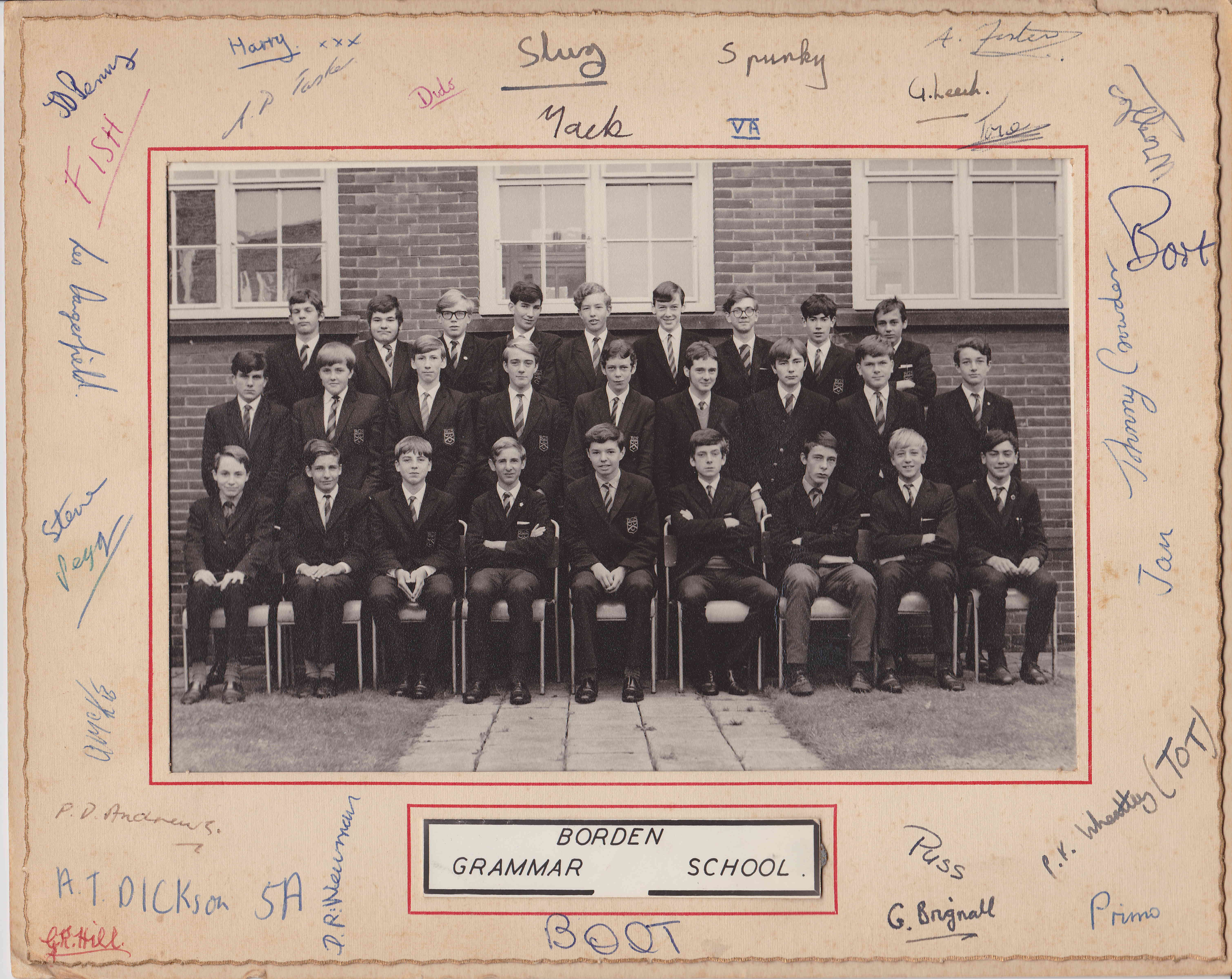 BGS 5th Form 1967 1
